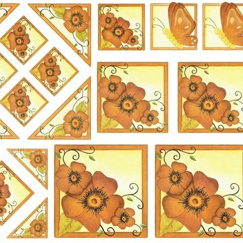 Hardanger - bloemen bruin