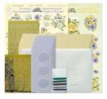 Tri-O kaartenkit geel/lila