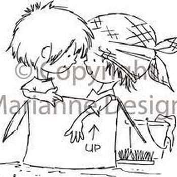 clear stamp Don&Daisy cleaning