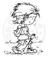clear stamp Don&Daisy hiking