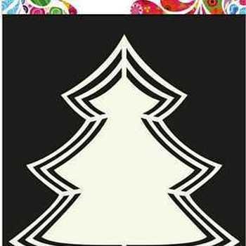 Shape Art - Christmas tree