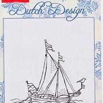 clear stamp Dutch Design zeilboot