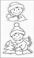 clear stamp Eline's toddlers christmas 3