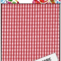 Fabric Art - Textiel rood geruit