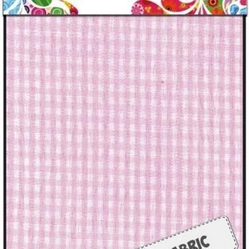 Fabric Art - Textiel pink geruit