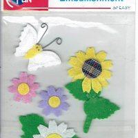 emb. bloemen/vlinder