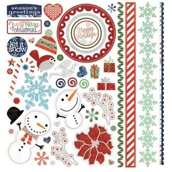 Basic Grey Nordic Holiday - element stickers