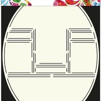 Card Art Stencil - Pop-up kaart ovaal