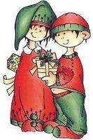 clear stamp Snoesjes kerstcadeau