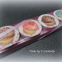 Theelichten groot (4) Cupcakes