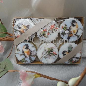 Theelichten klein (6) Sophy's winter birds