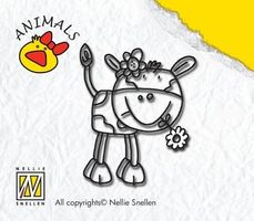 clear stamp animals cow-girl