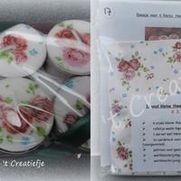 DIY Theelichten pakket 17 - Roosjes Rosalie