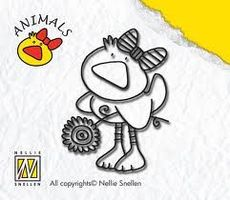 clear stamp animals duck-girl