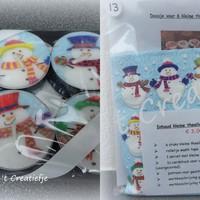 DIY Theelichten pakket 13 - Snowmen Team