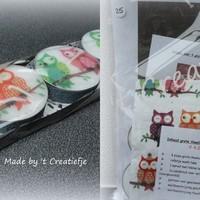 DIY Theelichten pakket 25 - Colourful Owls