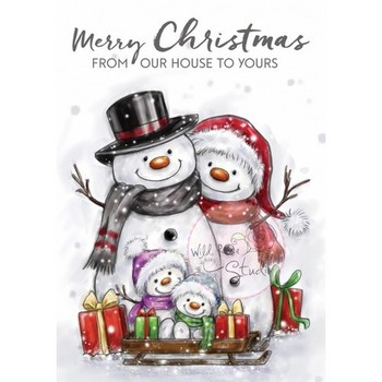 Wild Rose Studio - Stamp - Snowmen family