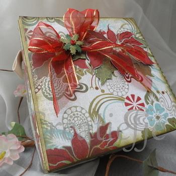 Geschenkdoos Kerstrozen