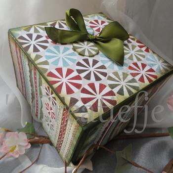 Geschenkdoos Kerst cirkels
