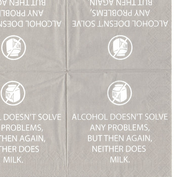 Alcohol doesn't solve