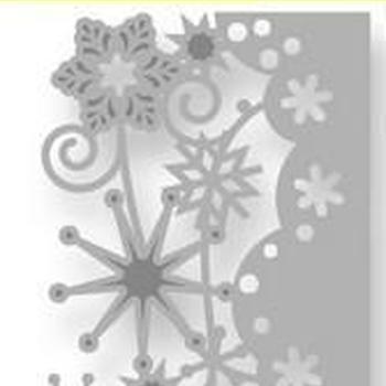 CraftEmotions Die - Kristallen rand ornament