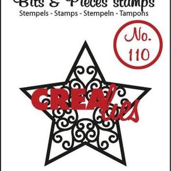 Crealies Clearstamp Bits & Pieces (110) - Ster