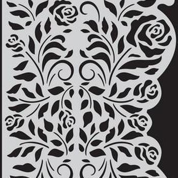 CraftEmotions - Mask stencil - Rozen ornament rand