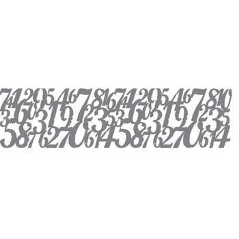 AS Stencil - Distressed digits