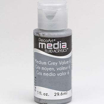 Mixed Media Acryl - Medium Grey value 6 (17)