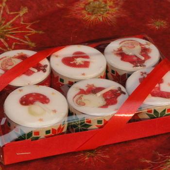 Scrap - Geschenkdoosje voor 6 kleine theelichtjes (versie 2)(12)