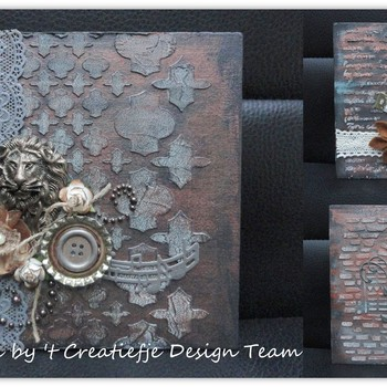 Mixed media - Mini album/journal met acrylverf (15)