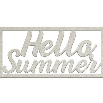 Die-cuts chipboard word - Hello summer