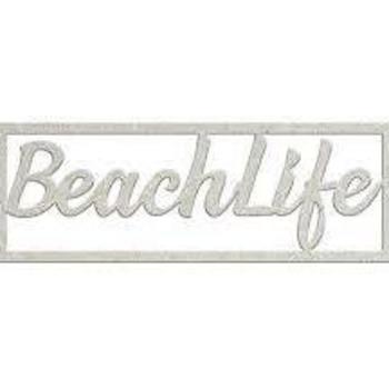Die-cuts chipboard word - Beachlife