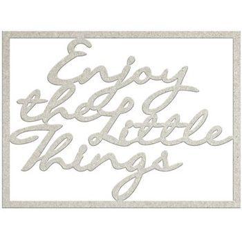 Die-cuts chipboard word - Enjoy the little things