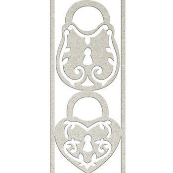 Die-cuts chipboard word embellishment - 2x Filligree locks