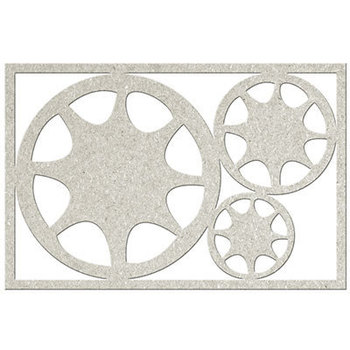 Die-cuts chipboard picture - 3x Cogs