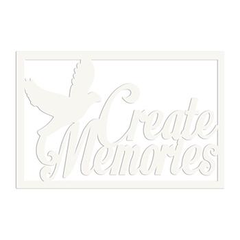 Die-cuts beermat chipboard word - Create memories