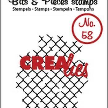 Crealies Clearstamp Bits & Pieces (58) - Tin mesh