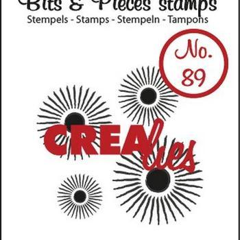 Crealies Clearstamp Bits & Pieces (89) - Sun