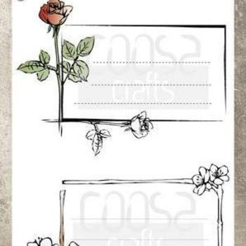 COOSA Crafts Clearstamp - Envelope Bloom (GB)