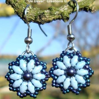 Oorbellen Mylana - Metallic blue