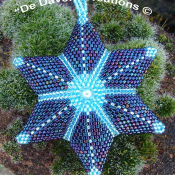 Peyote ster - Nachtblauw