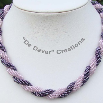 Collier Double spiral - Druifpaars