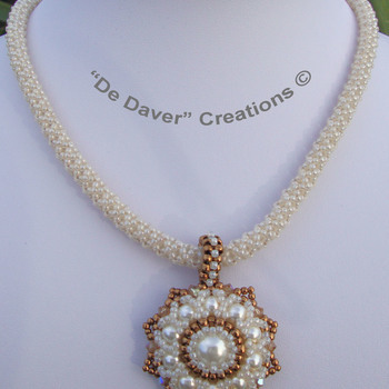 Collier Fourty - Ivory/bronze