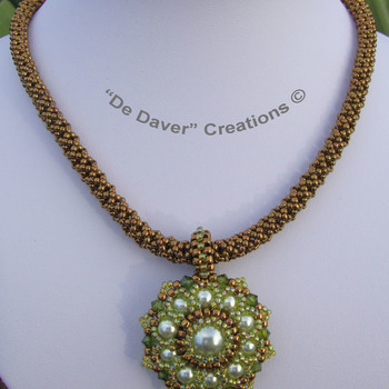 Collier Fourty - Peridot/antique bronze