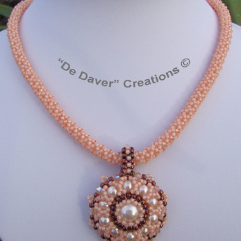 Collier Fourty - Peach/olympic bronze