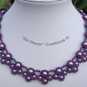 Collier Peacock Tails - Iris violet