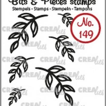 Crealies Clearstamp Bits & Pieces (149) - Mini blaadjes 5