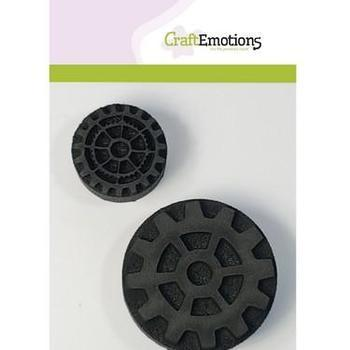 CraftEmotions - Foamstamps - Tandwielen 1
