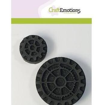 CraftEmotions - Foamstamps - Tandwielen 2